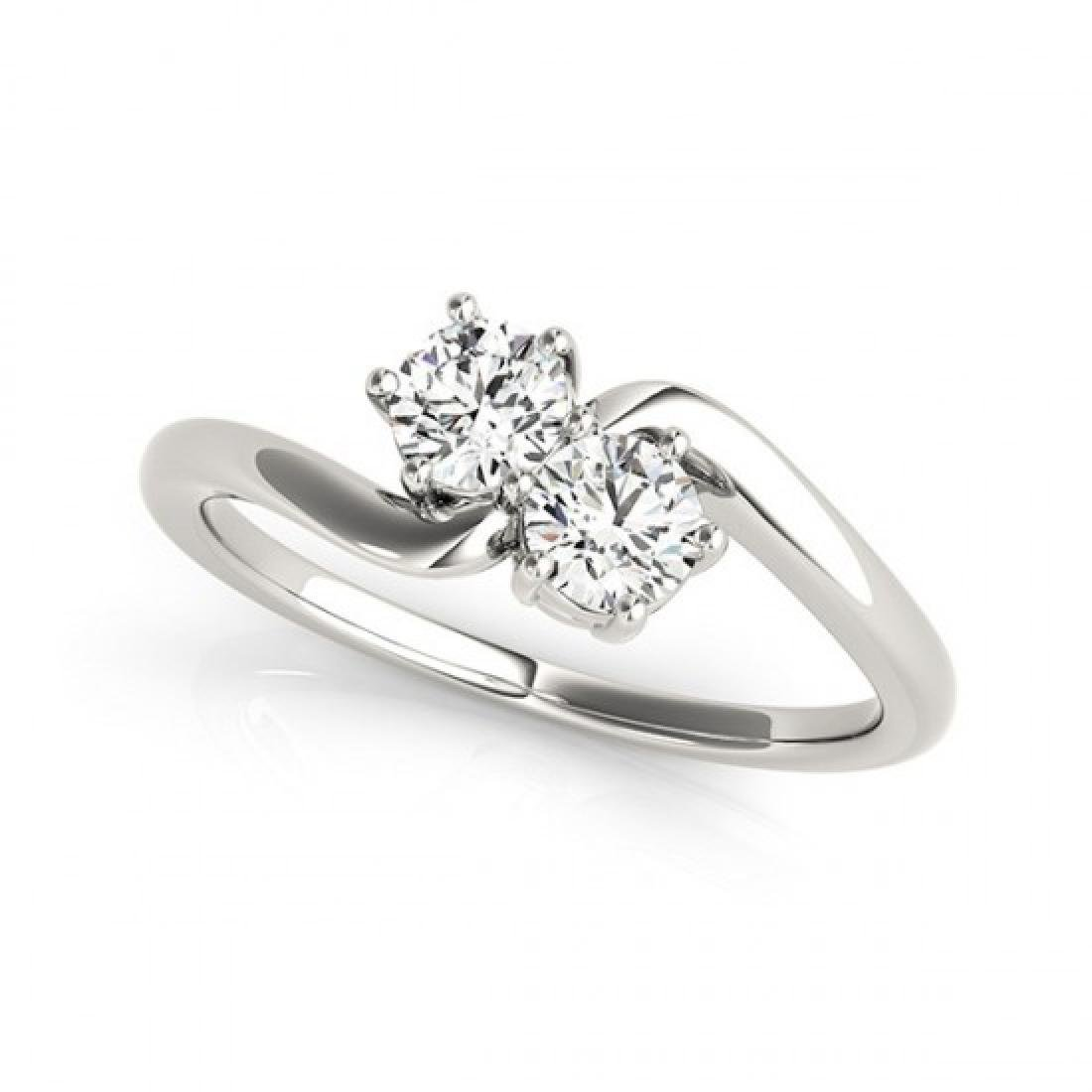 0.75 CTW Certified VS/SI Diamond 2 Stone 2 Stone Ring - 2