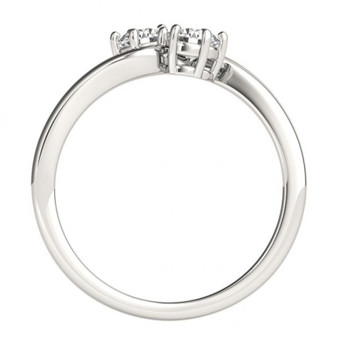 0.75 CTW Certified VS/SI Diamond 2 Stone 2 Stone Ring - 3