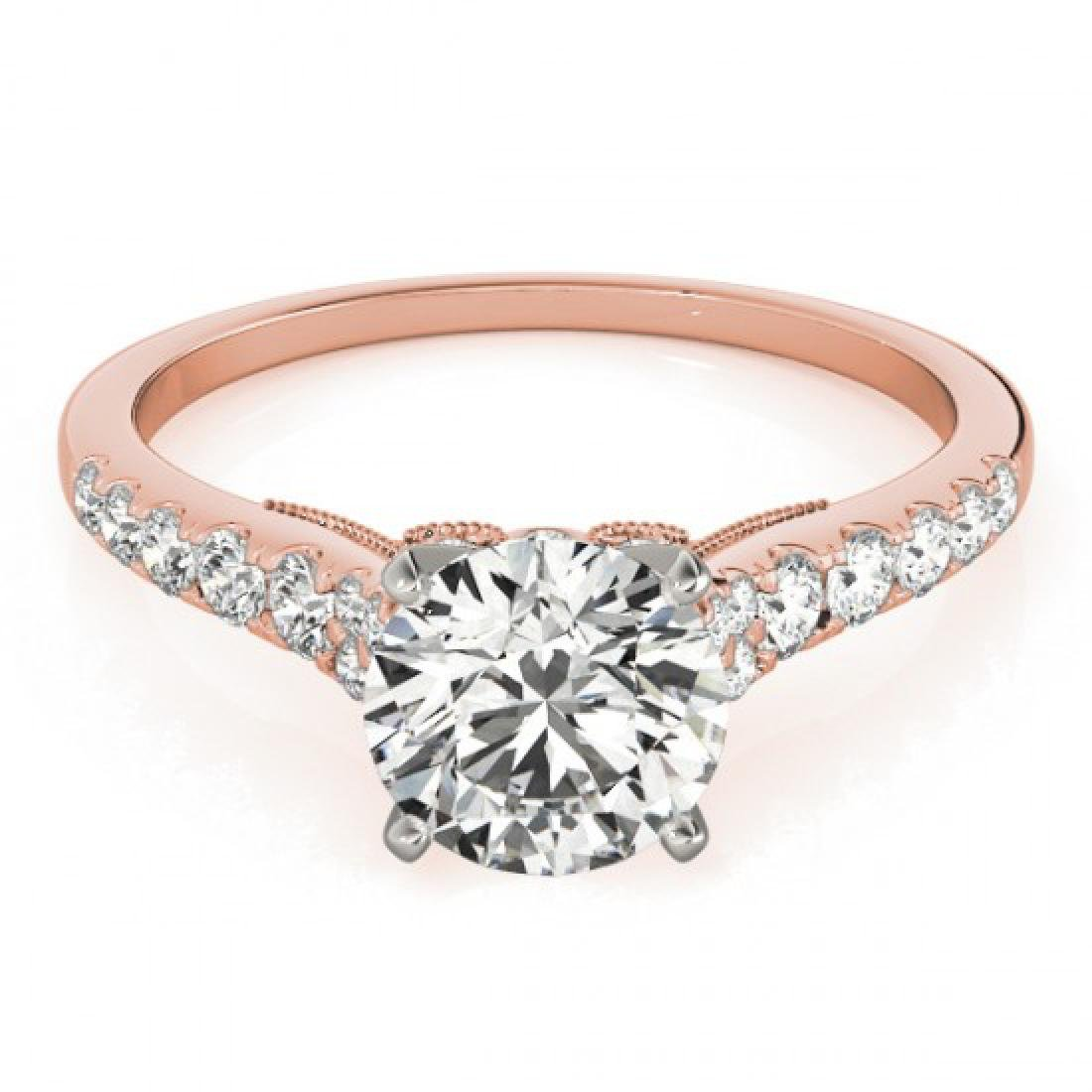 0.92 CTW Certified VS/SI Diamond Solitaire Ring 14K