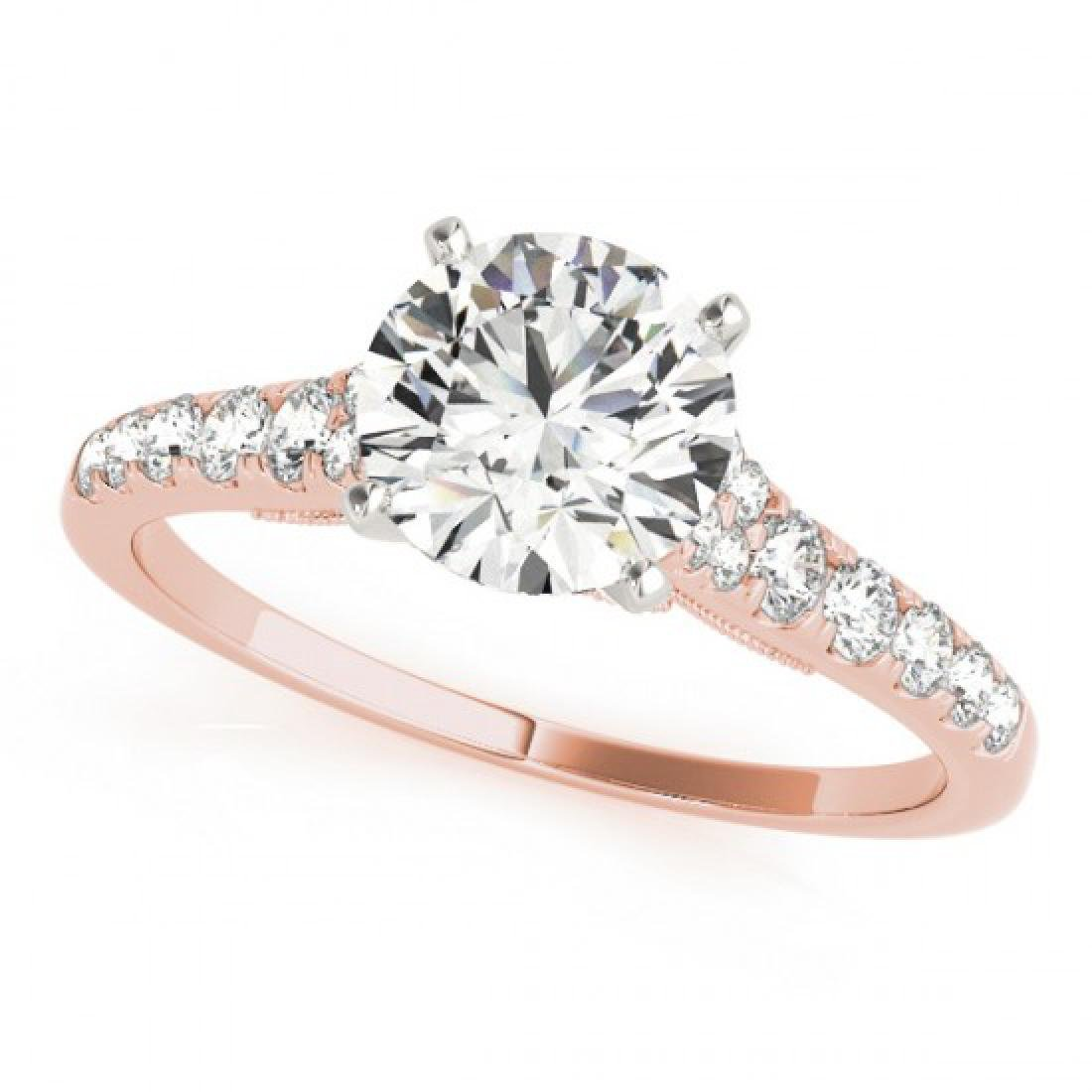 0.92 CTW Certified VS/SI Diamond Solitaire Ring 14K - 2