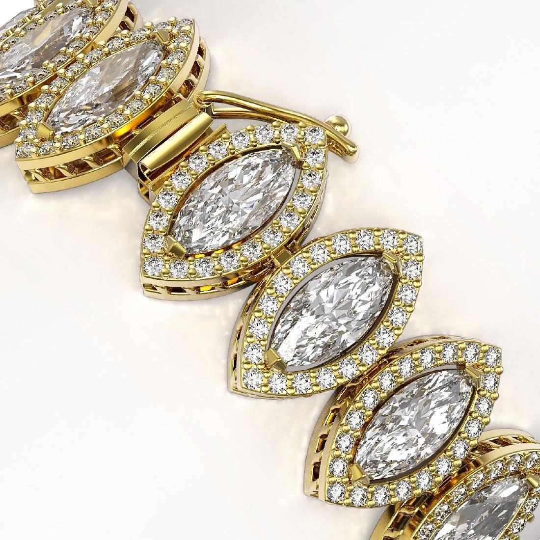 17.55 CTW Marquise Diamond Designer Bracelet 18K Yellow - 3