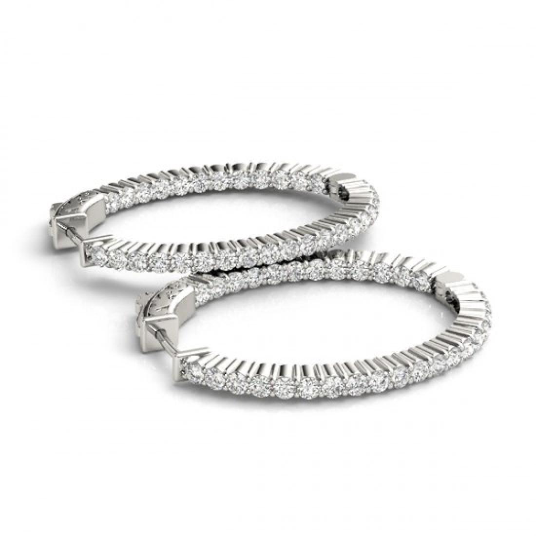 3.25 CTW Diamond VS/SI Certified 33 Mm Hoop Earrings