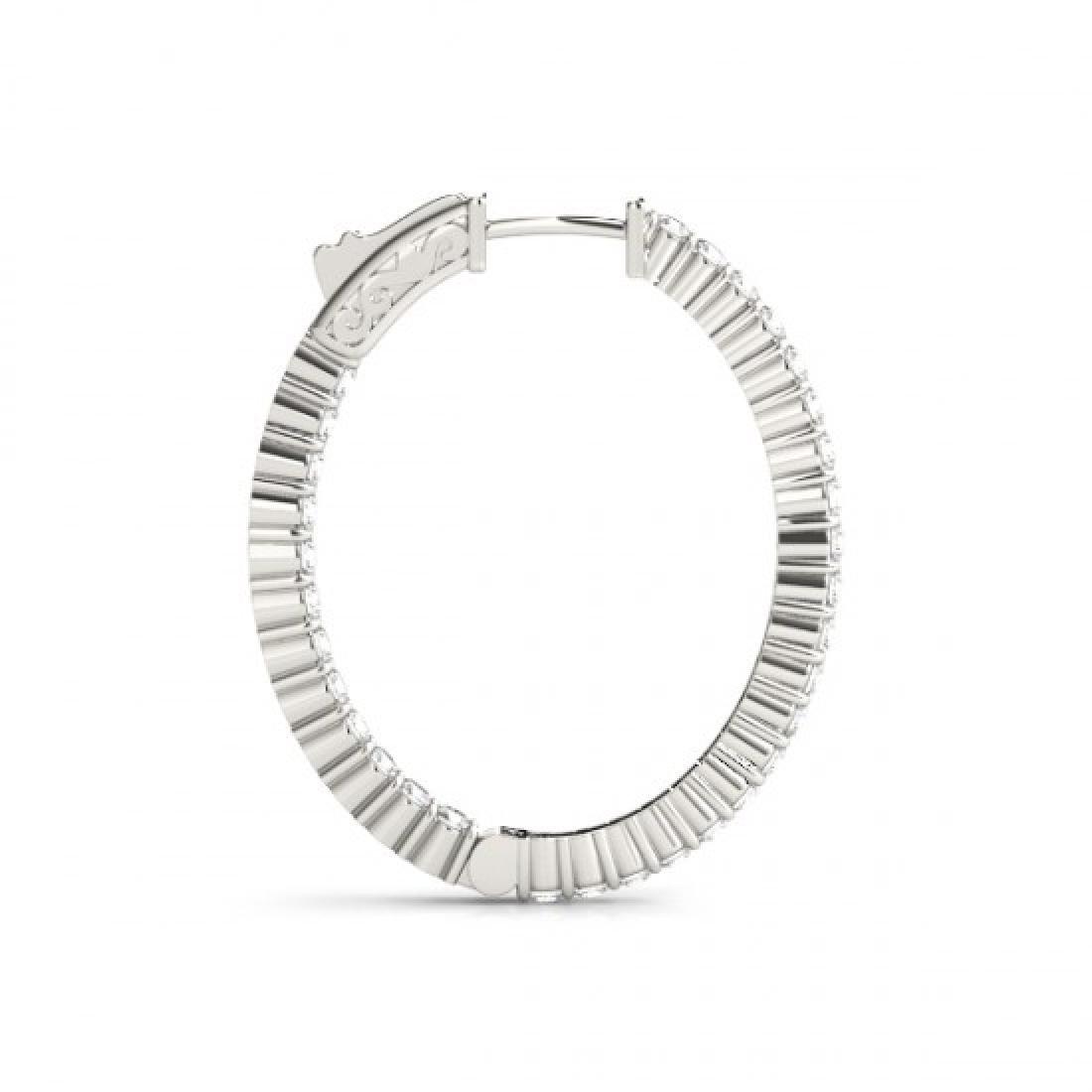 3.25 CTW Diamond VS/SI Certified 33 Mm Hoop Earrings - 3