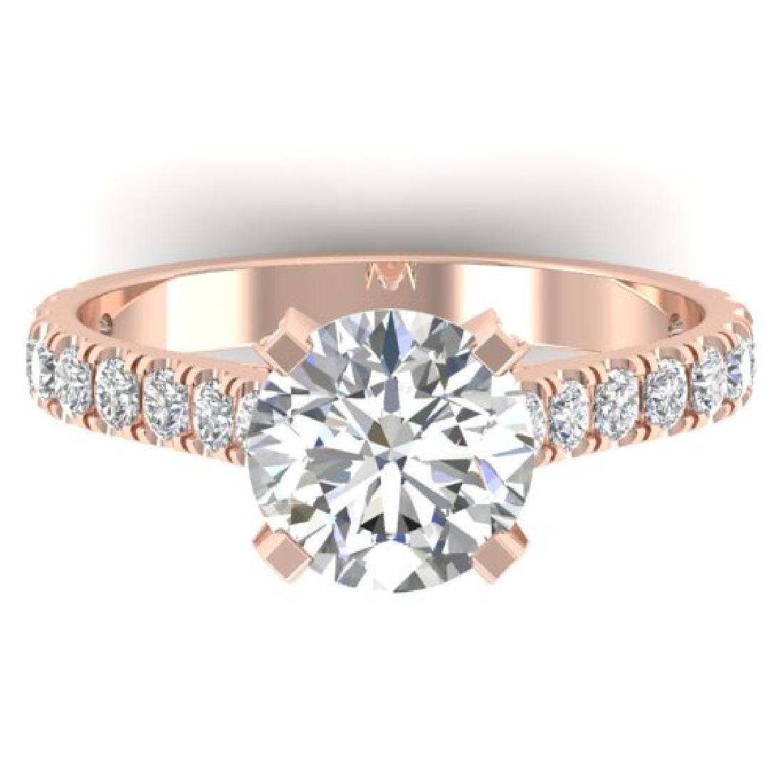 2.4 CTW Certified VS/SI Diamond Solitaire Art Deco Ring