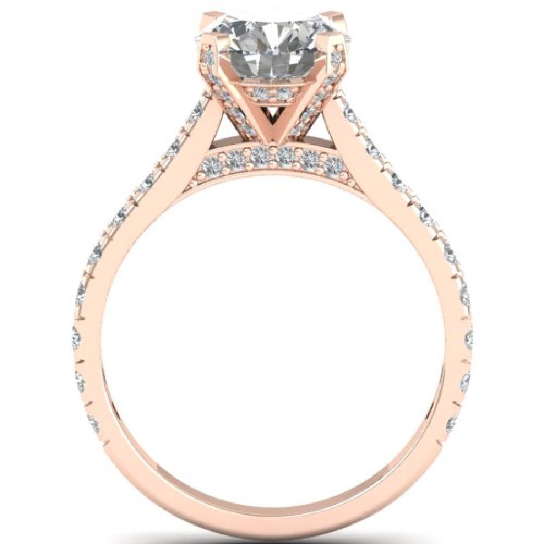 2.4 CTW Certified VS/SI Diamond Solitaire Art Deco Ring - 3