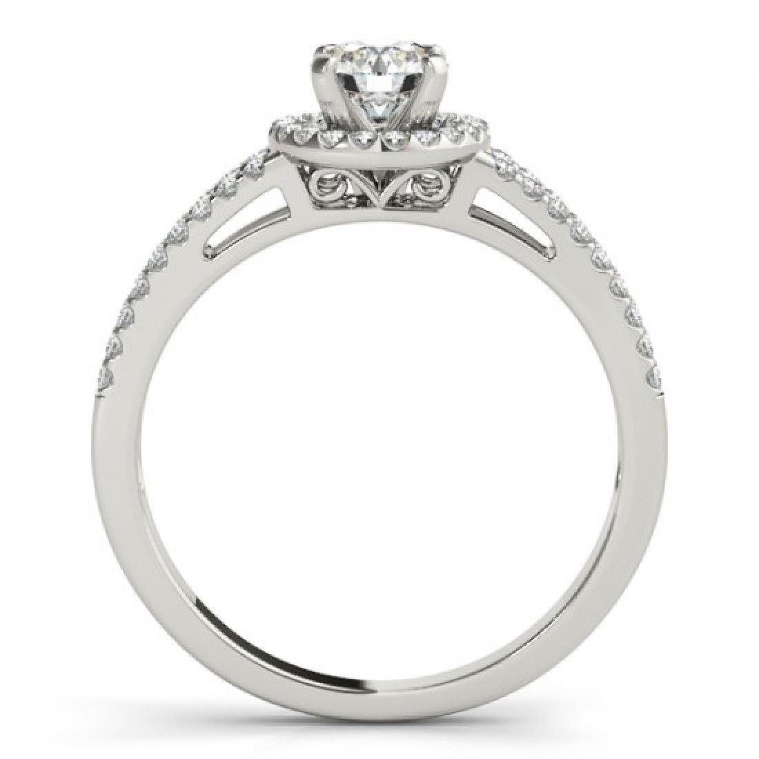 0.75 CTW Certified VS/SI Diamond Solitaire Halo Ring - 2