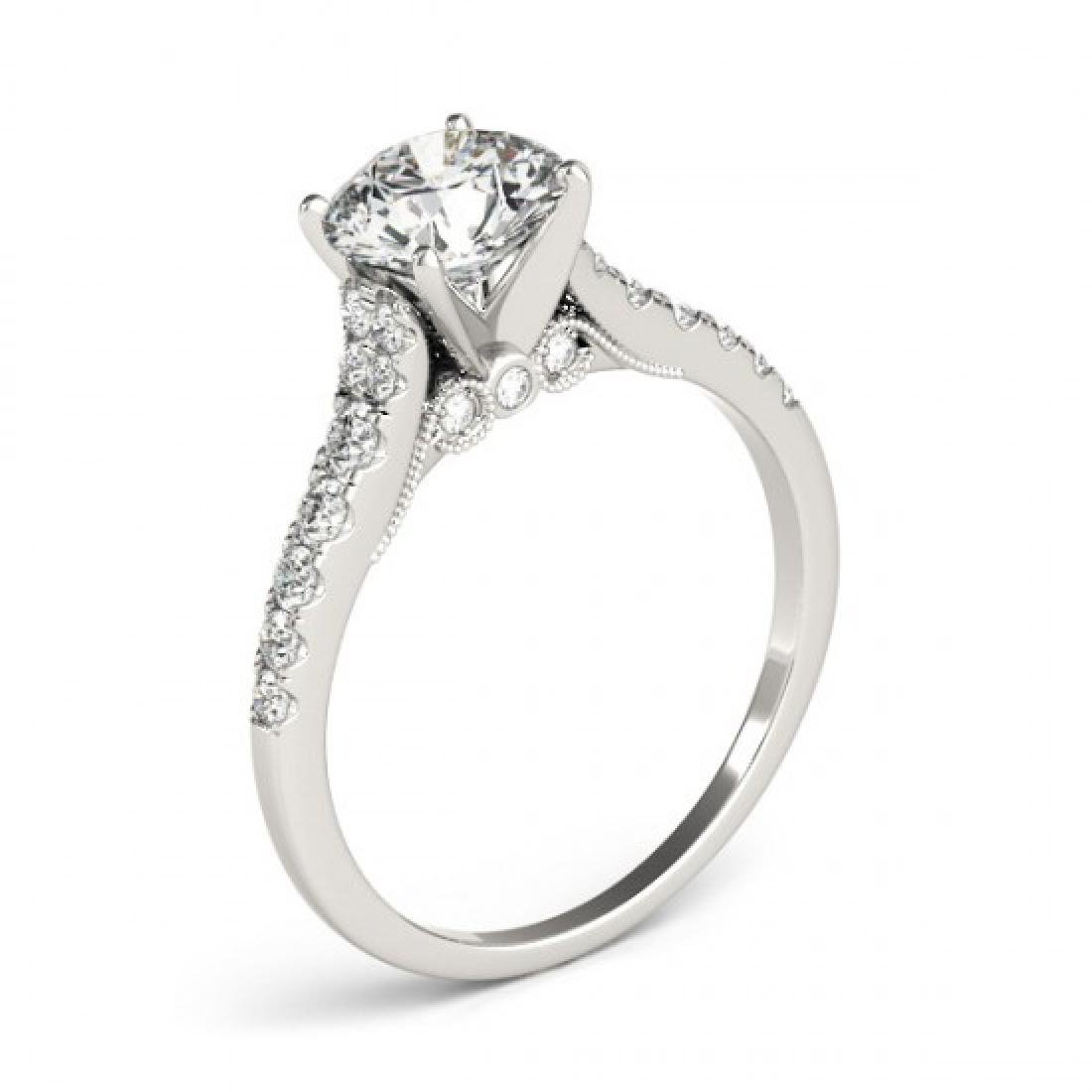 0.75 CTW Certified VS/SI Diamond Solitaire Ring 14K - 3