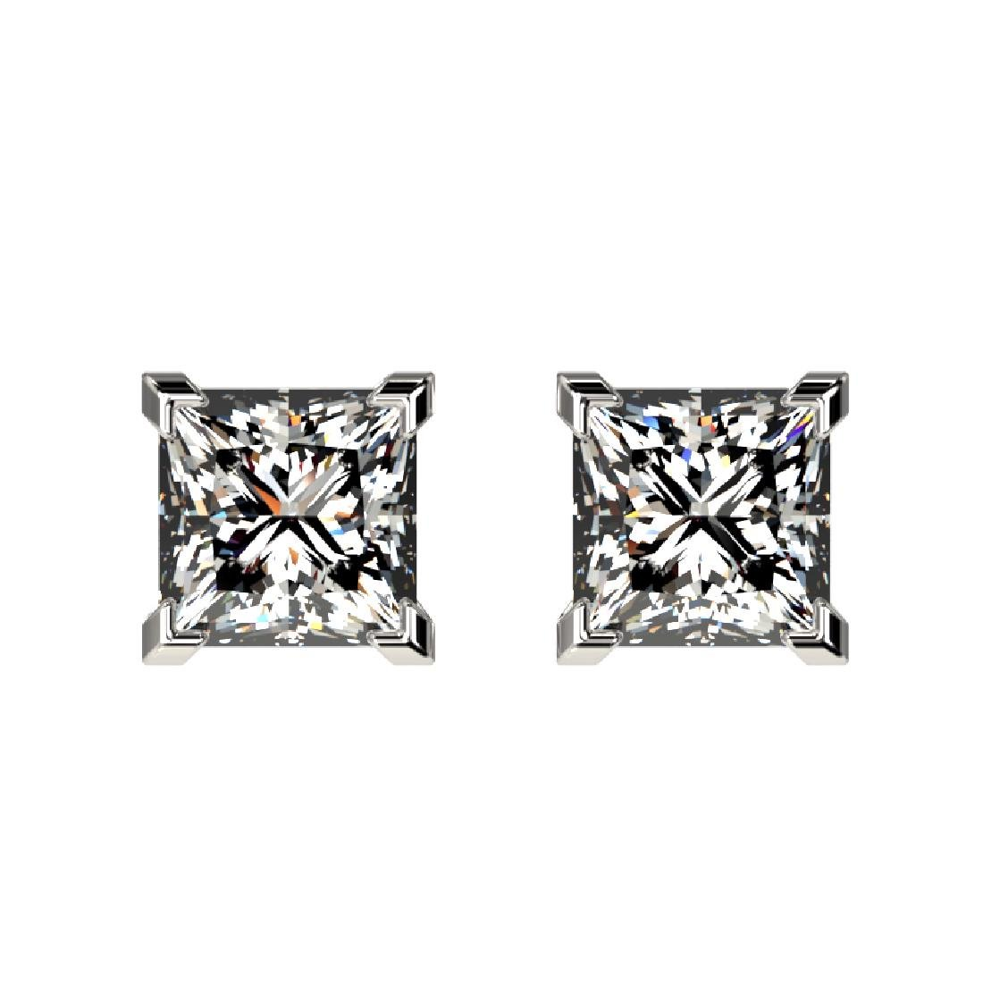 1 CTW Certified VS/SI Quality Princess Diamond Stud