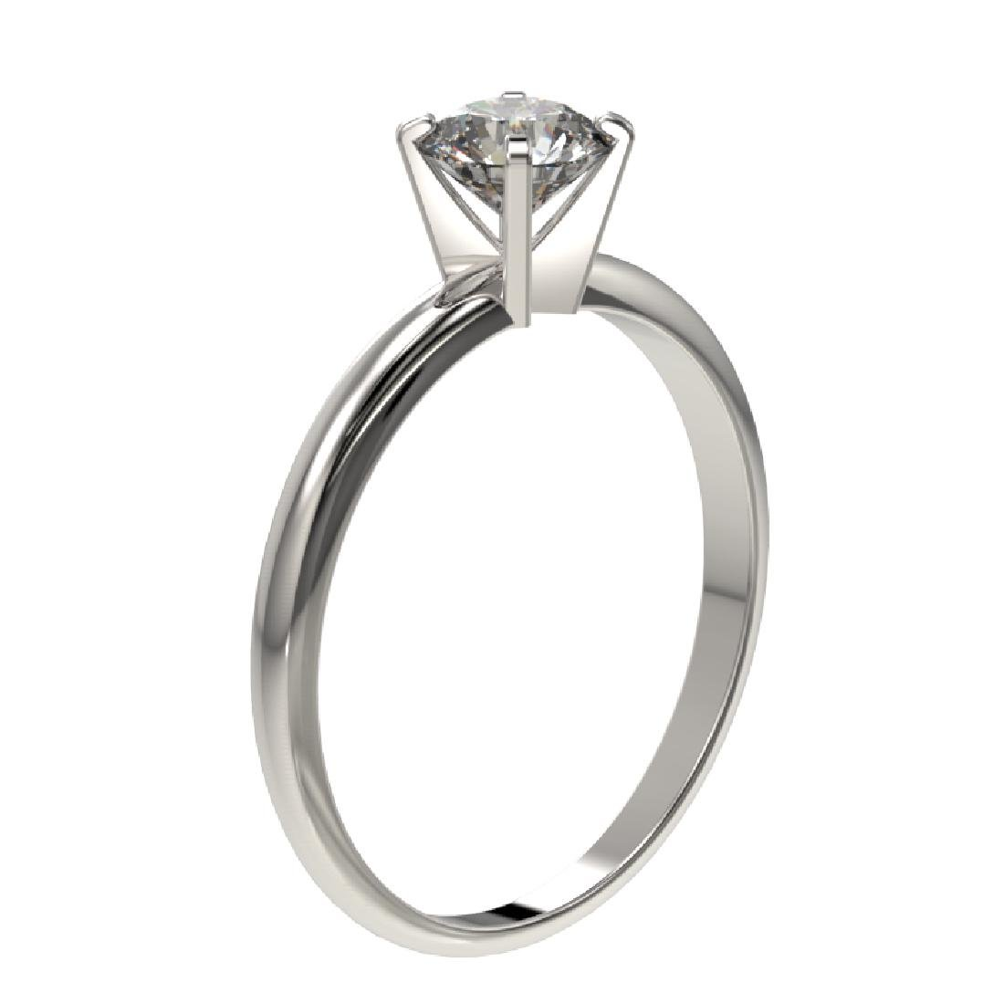0.77 CTW Certified H-SI/I Quality Diamond Solitaire - 3