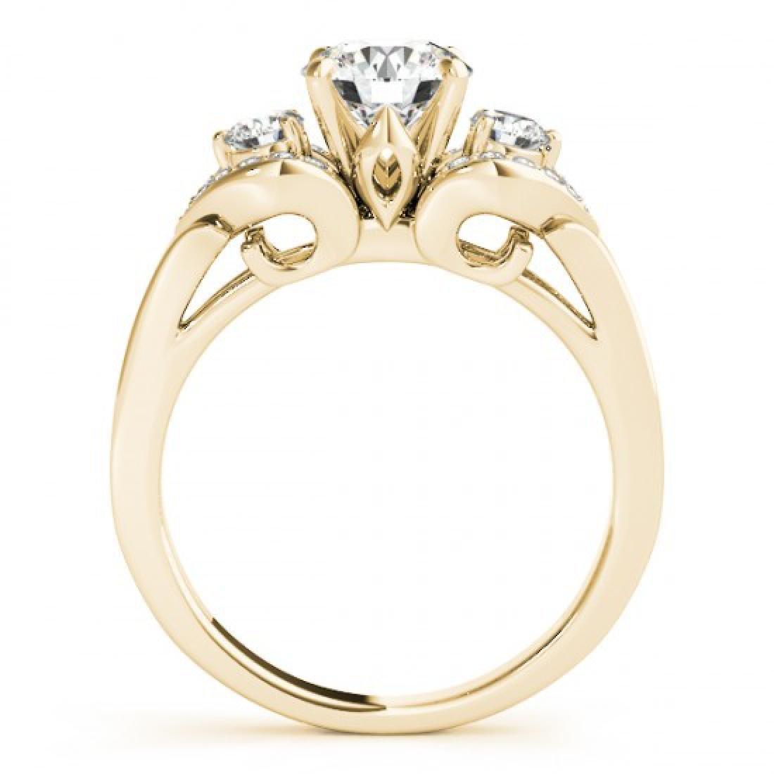 1.2 CTW Certified VS/SI Diamond 3 Stone Ring 14K Yellow - 2