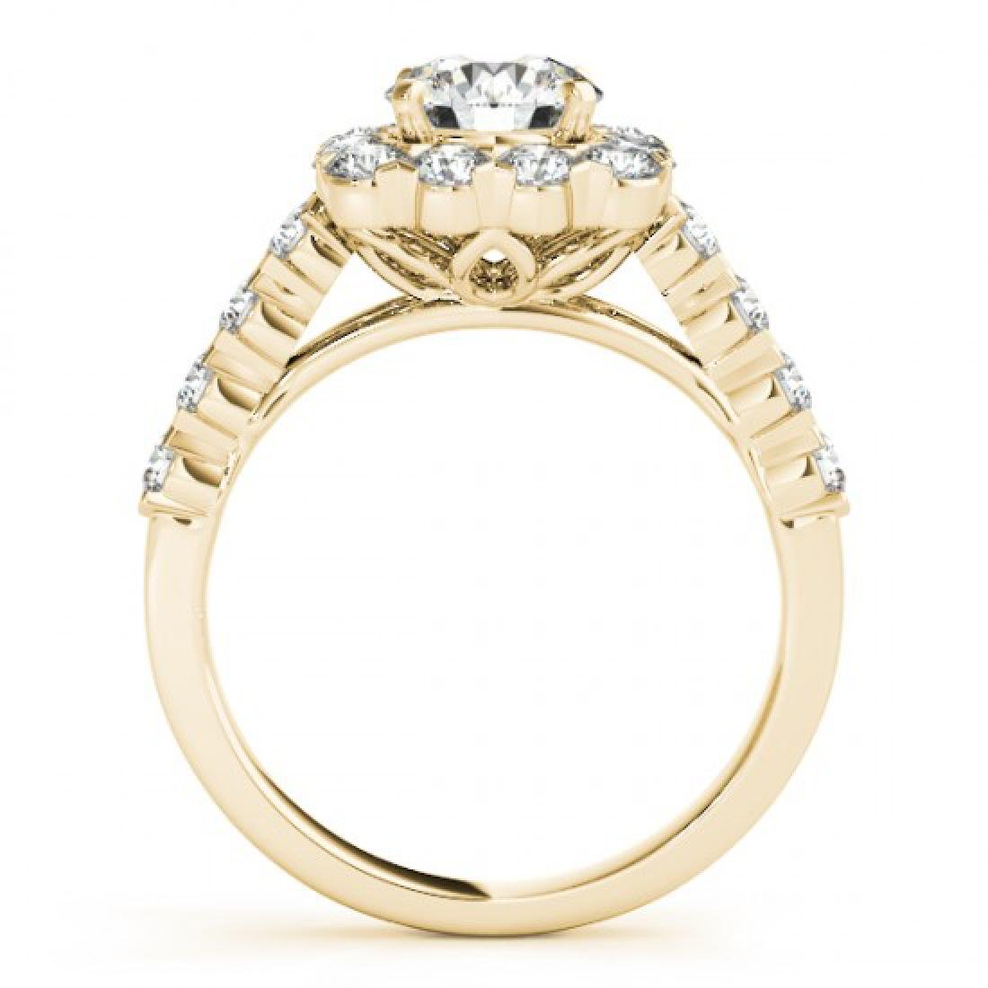 2.5 CTW Certified VS/SI Diamond Solitaire Halo Ring 14K - 2