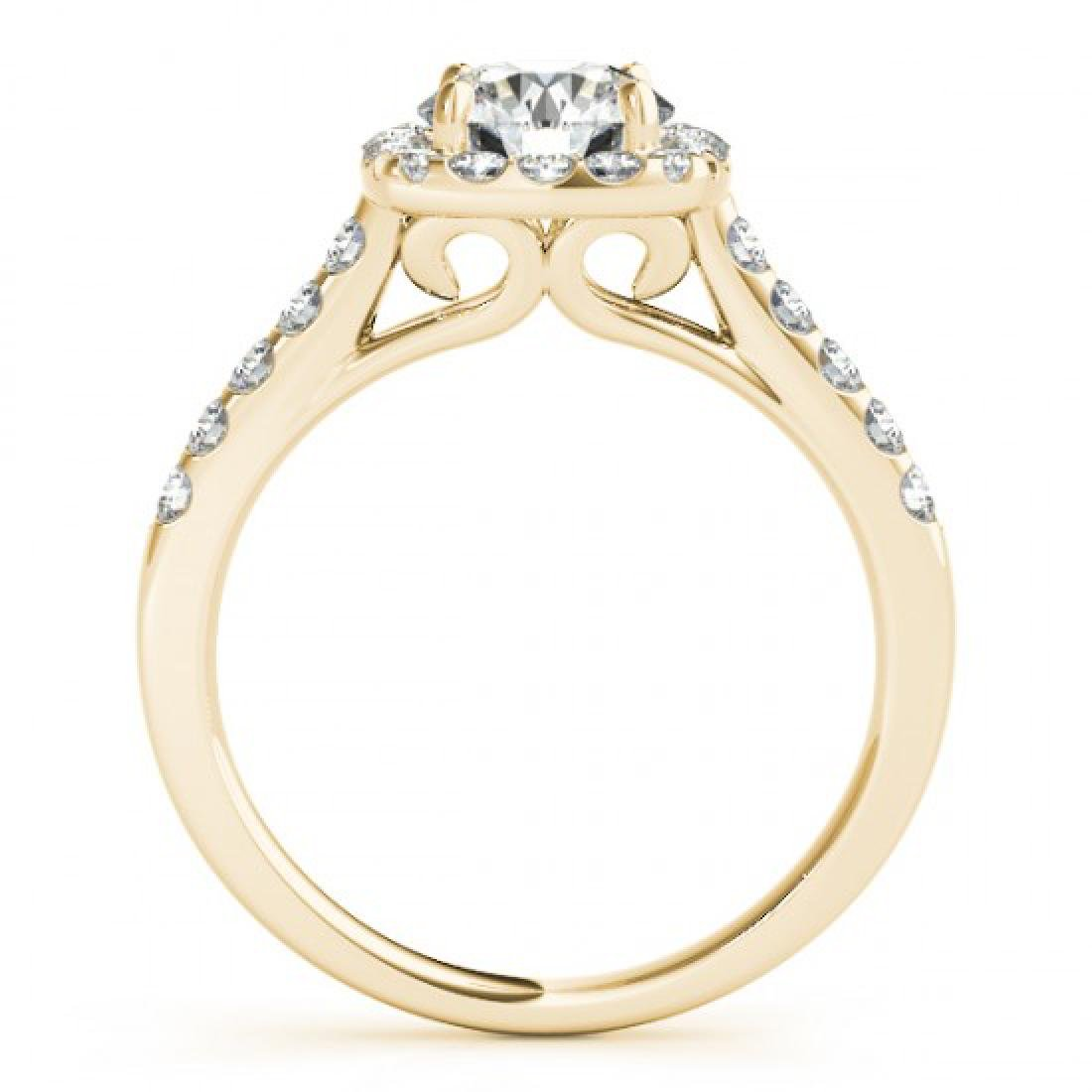 1.35 CTW Certified VS/SI Diamond Solitaire Halo Ring - 2