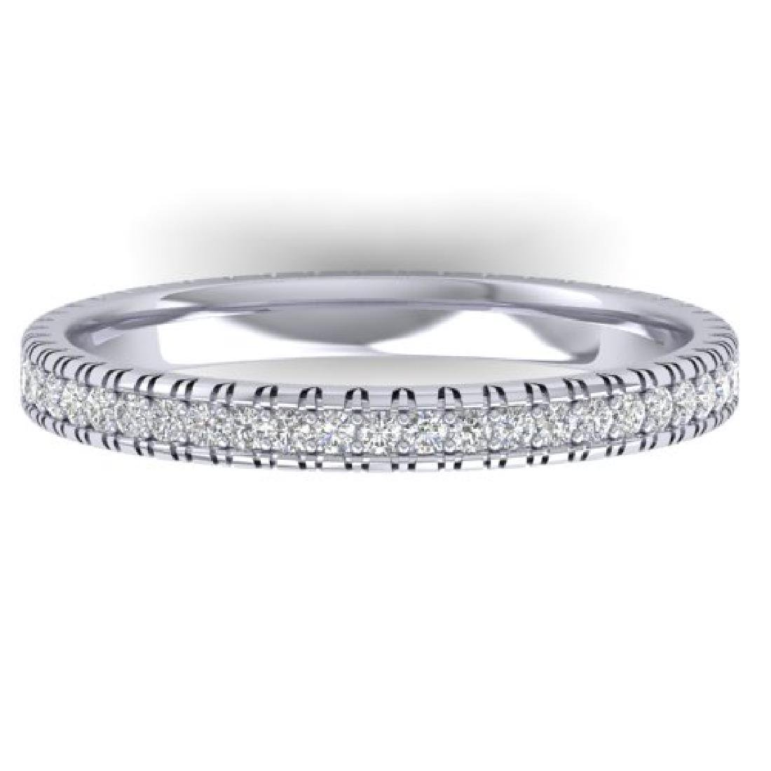 0.75 CTW Certified VS/SI Diamond Eternity Band Ring 18K