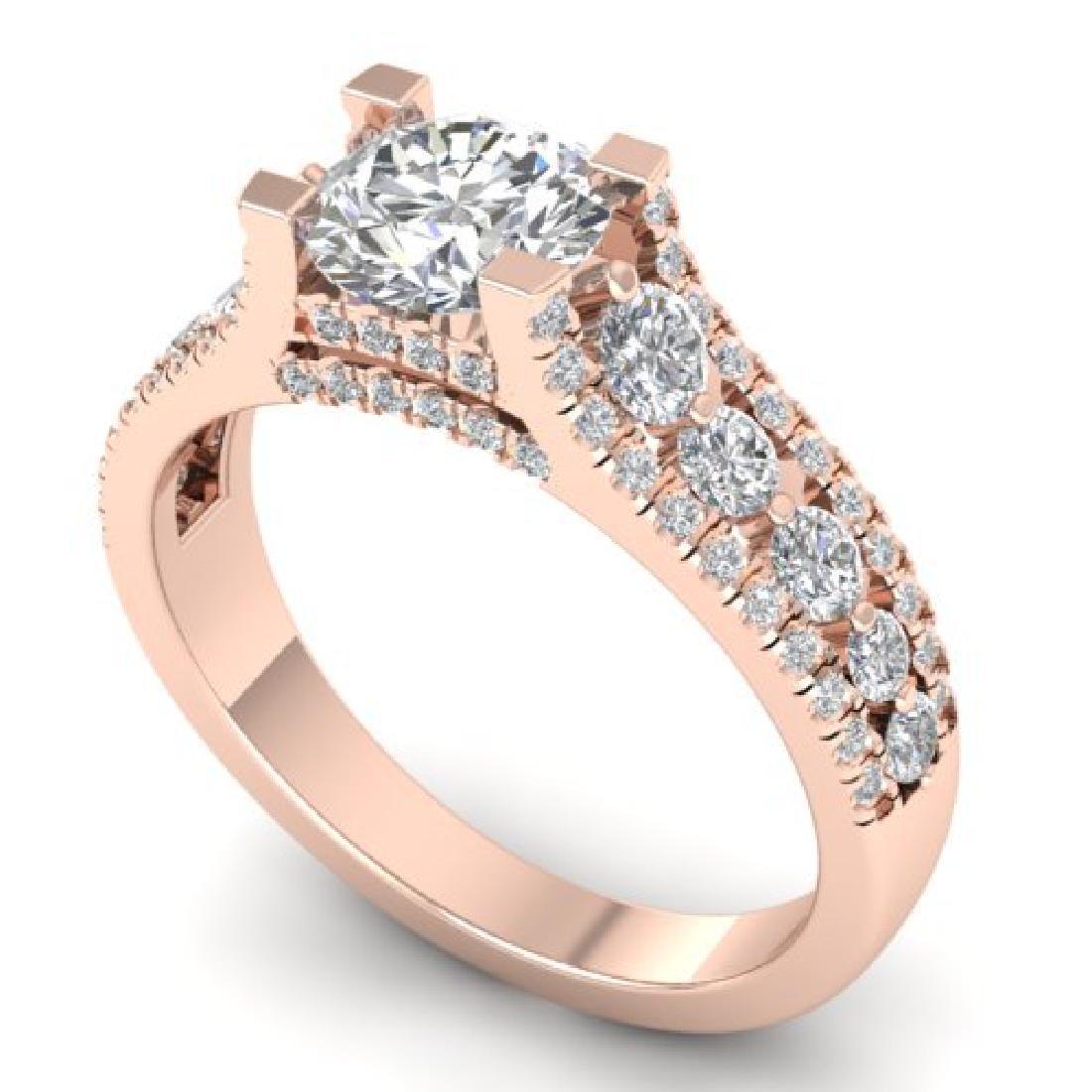 2.55 CTW Certified VS/SI Diamond Art Deco Micro Ring - 2