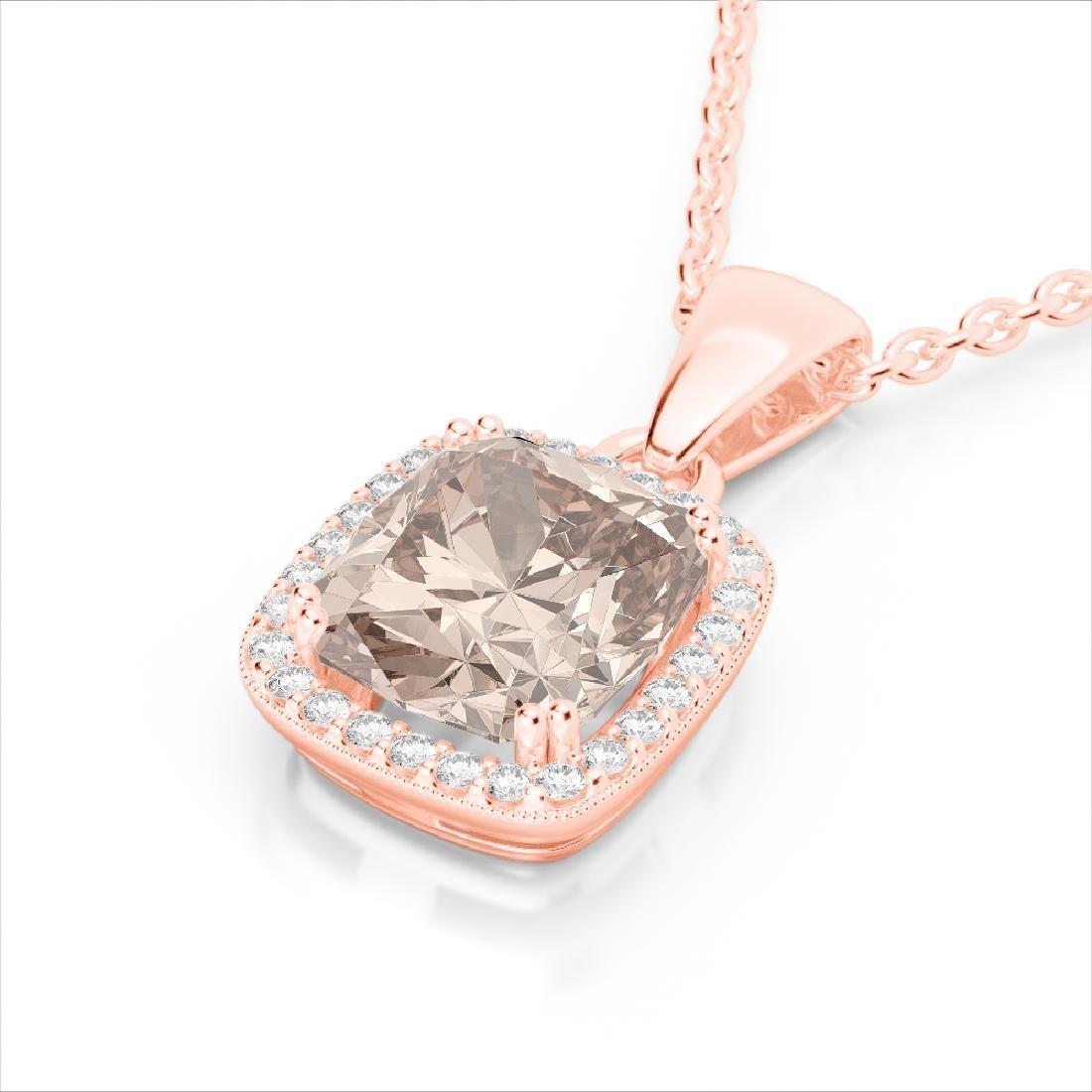 3 CTW Morganite & Micro VS/SI Diamond Pave Halo