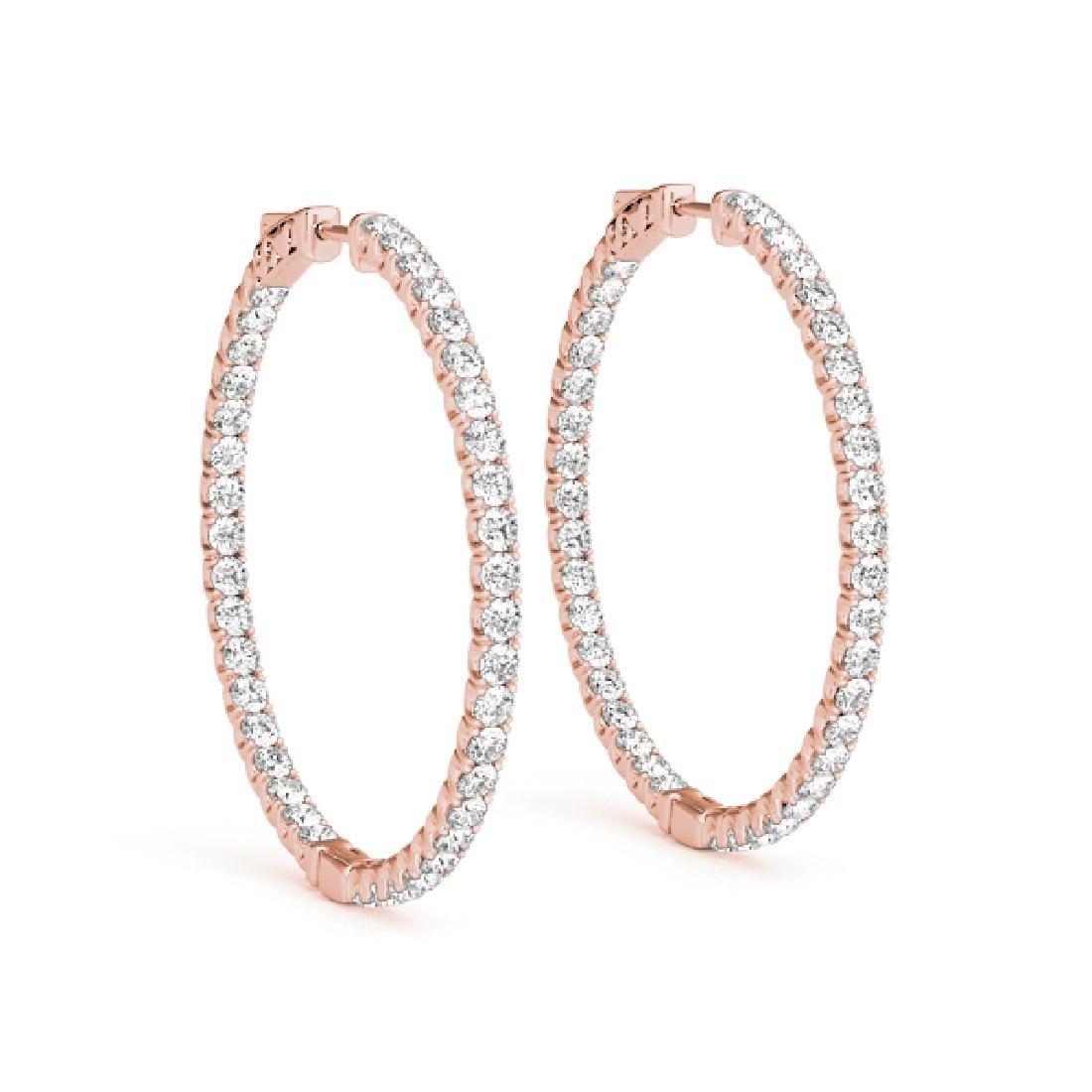 0.75 CTW Diamond VS/SI Certified 20 Mm Hoop Earrings - 2