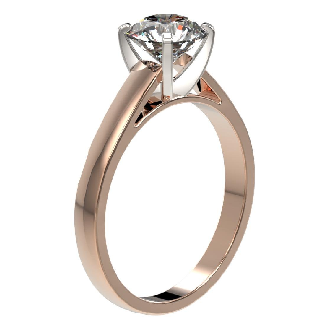 1.50 CTW Certified H-SI/I Quality Diamond Solitaire - 3
