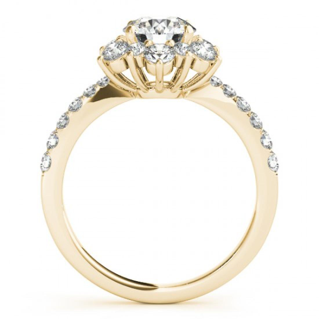 1.09 CTW Certified VS/SI Diamond Solitaire Halo Ring - 2