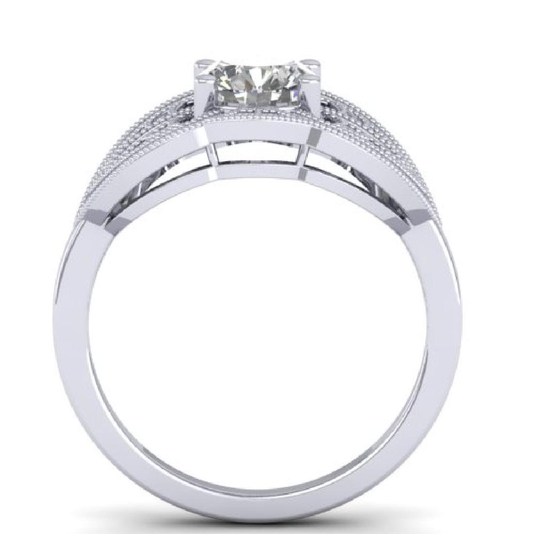 1.5 CTW Certified VS/SI Diamond Art Deco Micro Ring 18K - 3