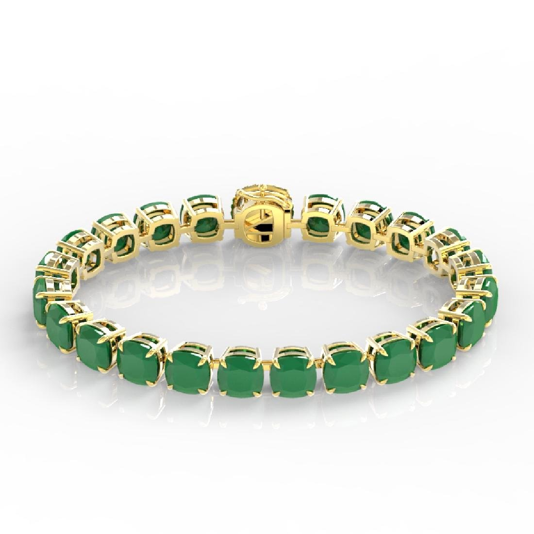 46 CTW Emerald & Micro Pave VS/SI Diamond Halo Bracelet - 2
