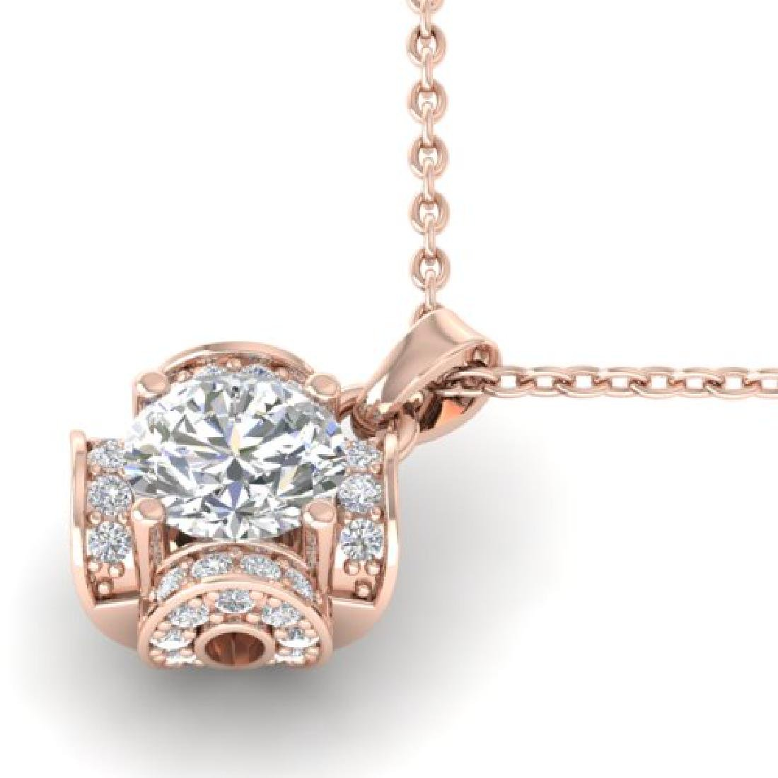 0.95 CTW Certified VS/SI Diamond Art Deco Stud Necklace - 2
