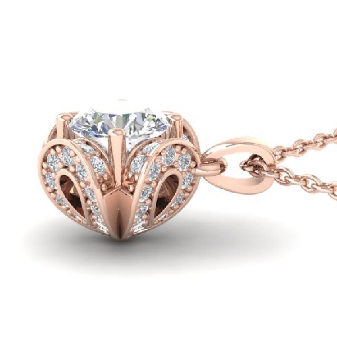 0.95 CTW Certified VS/SI Diamond Art Deco Stud Necklace - 3