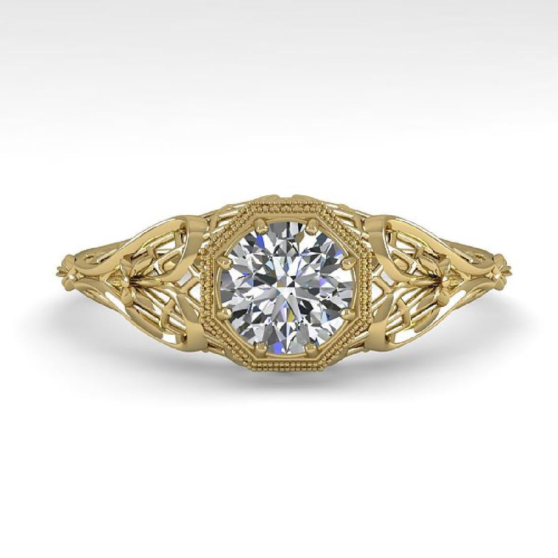 0.50 CTW VS/SI Diamond Solitaire Ring 14K Yellow Gold