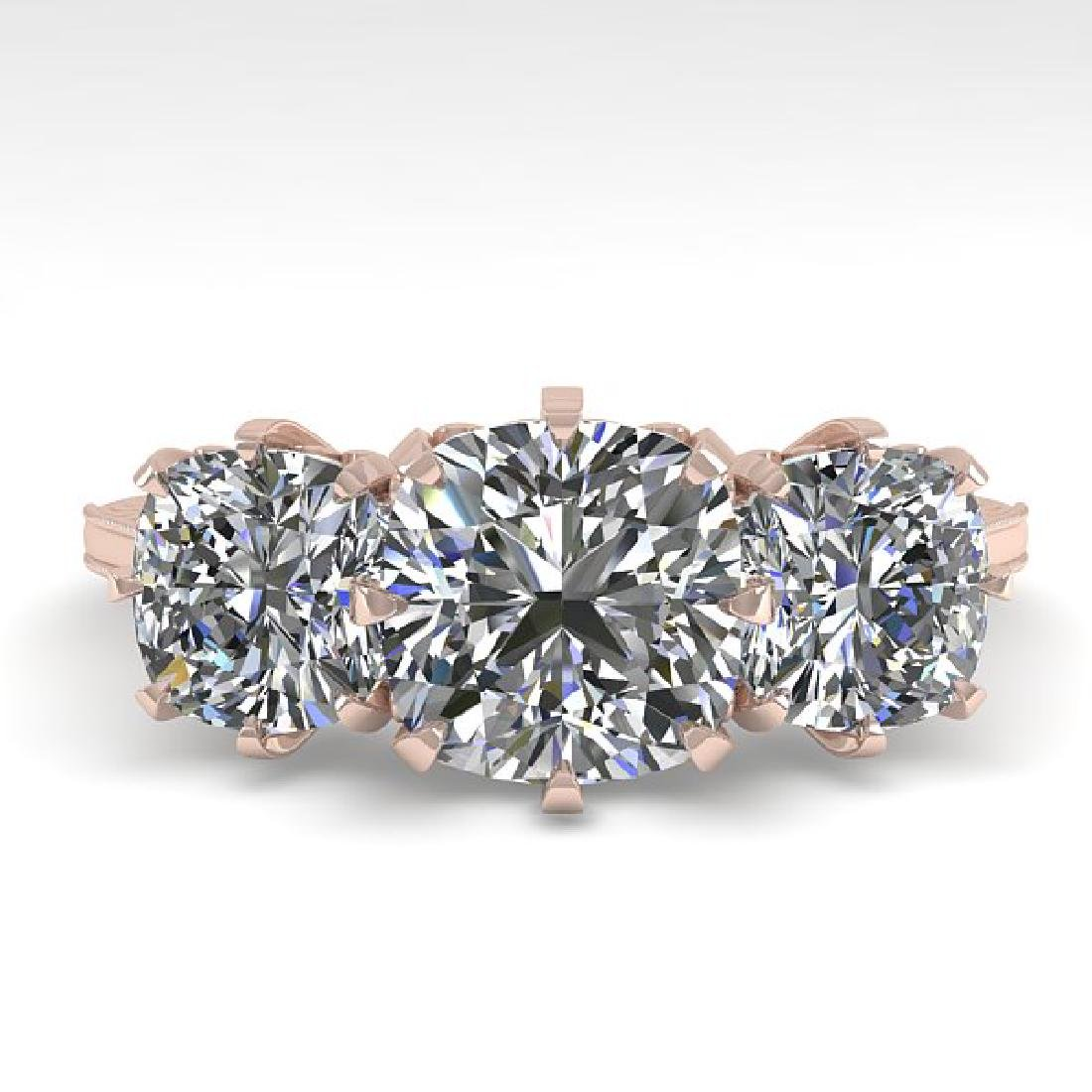 2 CTW Solitaire VS/SI Cushion Diamond 14K Rose Gold