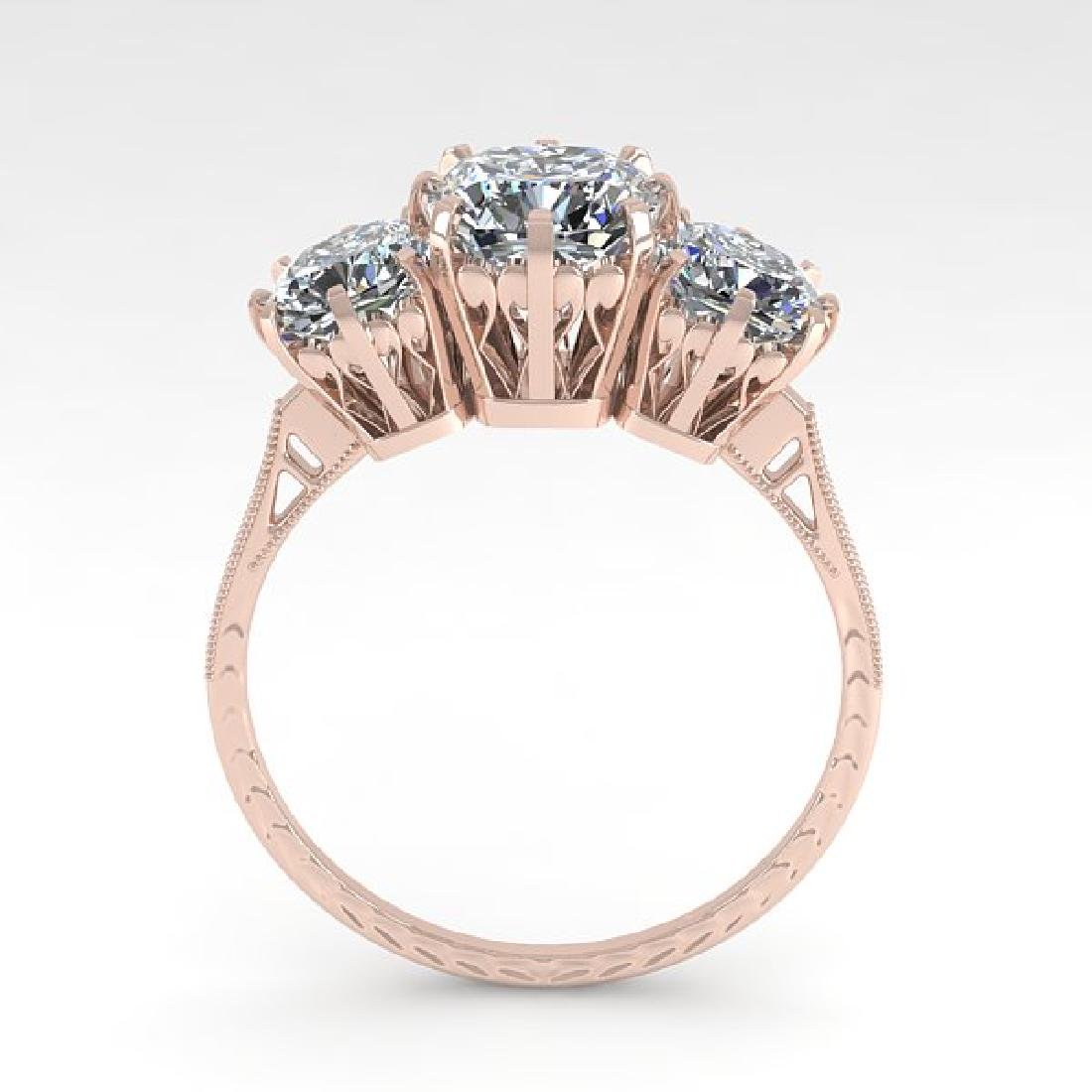 2 CTW Solitaire VS/SI Cushion Diamond 14K Rose Gold - 3