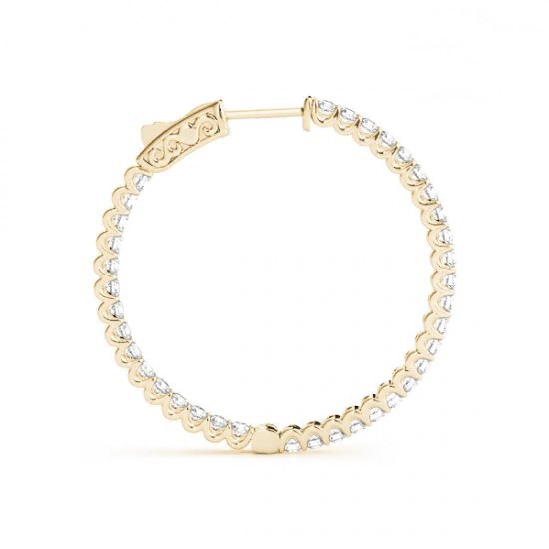 1.25 CTW Diamond VS/SI Certified 25 Mm Hoop Earrings - 3
