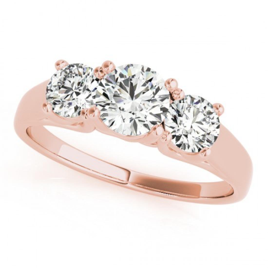 1.3 CTW Certified VS/SI Diamond 3 Stone Solitaire Ring