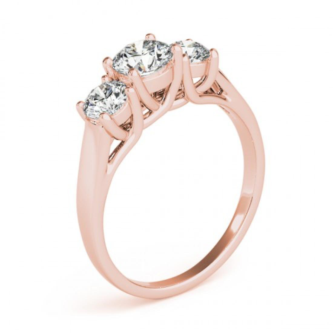 1.3 CTW Certified VS/SI Diamond 3 Stone Solitaire Ring - 2
