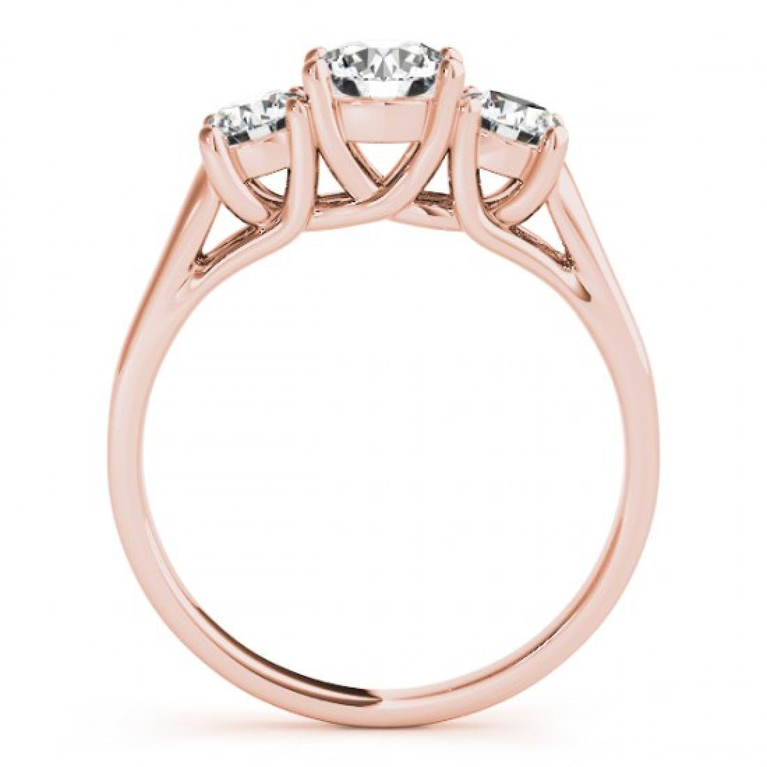 1.3 CTW Certified VS/SI Diamond 3 Stone Solitaire Ring - 3