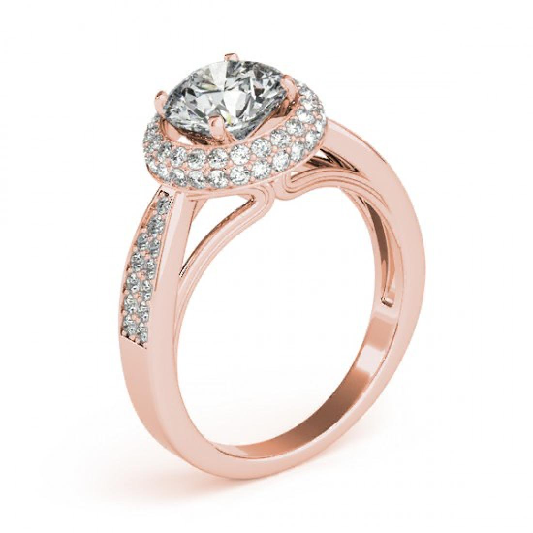 2.15 CTW Certified VS/SI Diamond Solitaire Halo Ring - 3