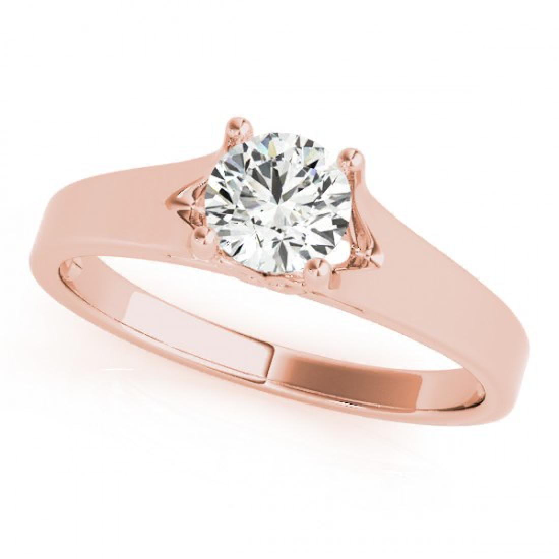 1.5 CTW Certified VS/SI Diamond Solitaire Ring 14K Rose - 2