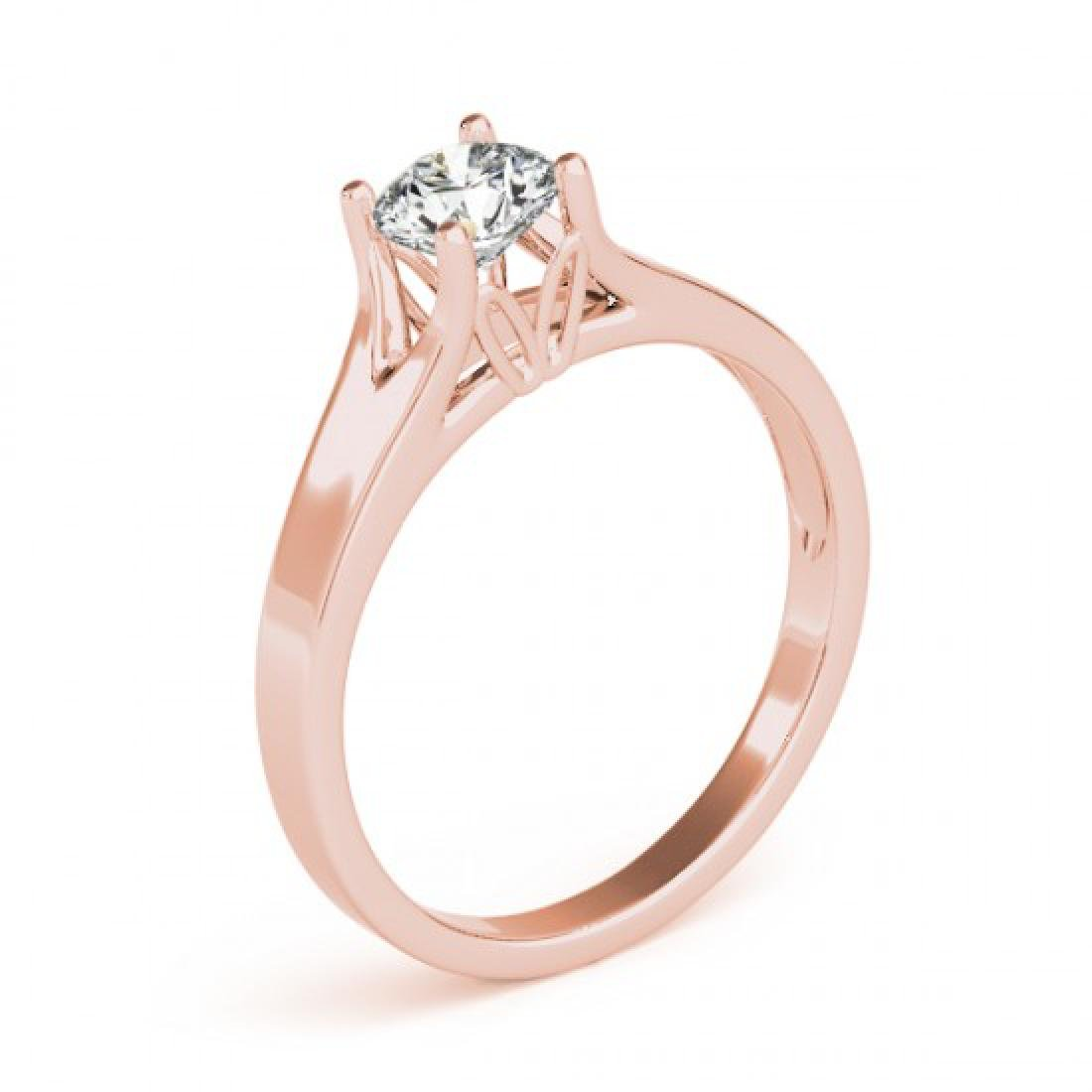 1.5 CTW Certified VS/SI Diamond Solitaire Ring 14K Rose - 3