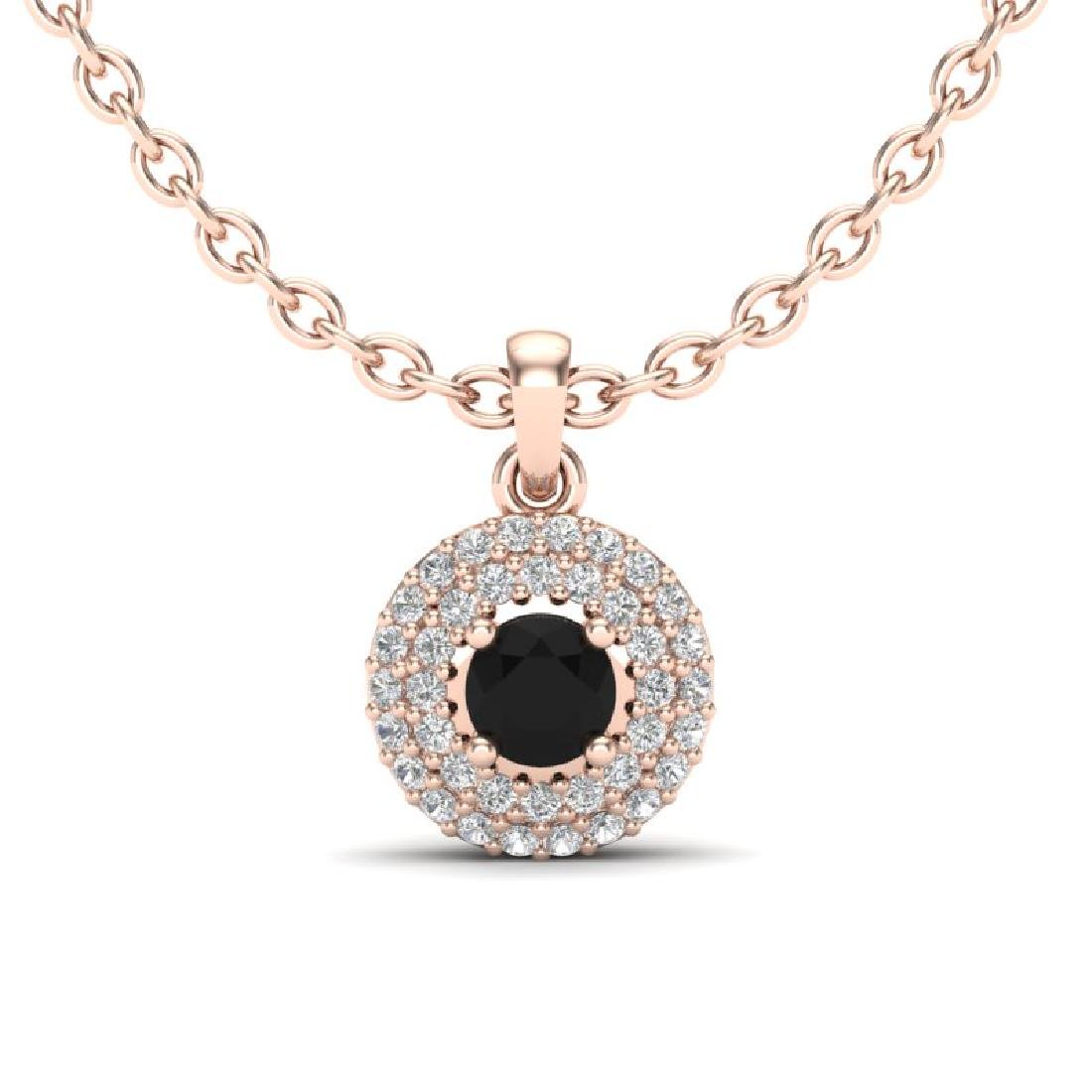 0.70 CTW Micro Pave VS/SI Diamond Designer Necklace 14K