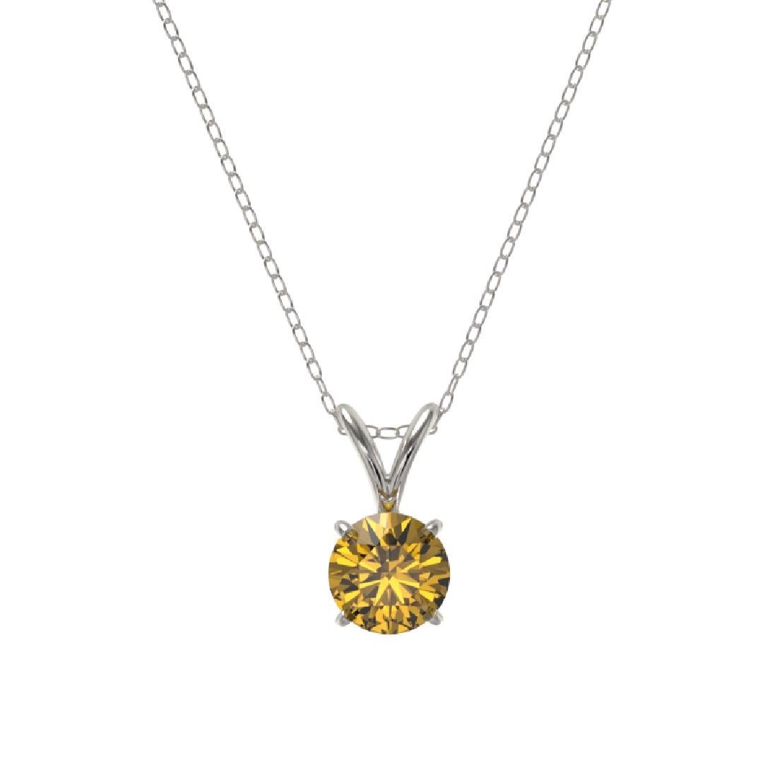 0.53 CTW Certified Intense Yellow SI Diamond Solitaire - 3