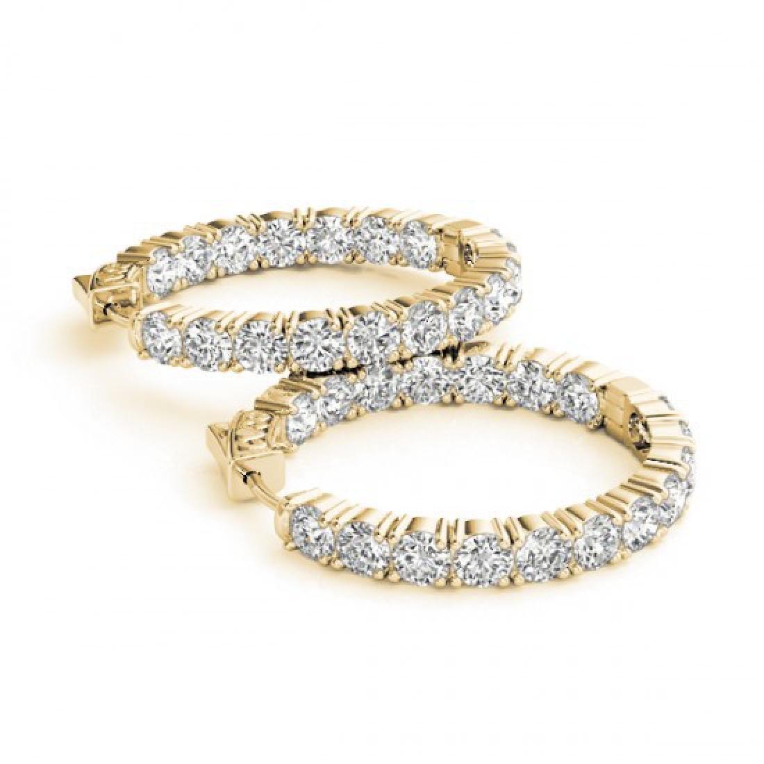 7.5 CTW Diamond VS/SI Certified 37 Mm Hoop Earrings 14K