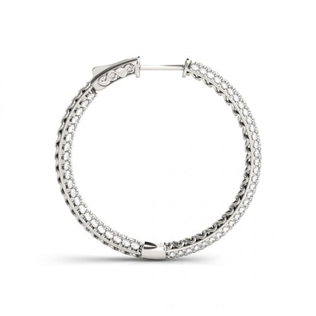 4.5 CTW Diamond VS/SI Certified 36 Mm Hoop Earrings 14K - 3