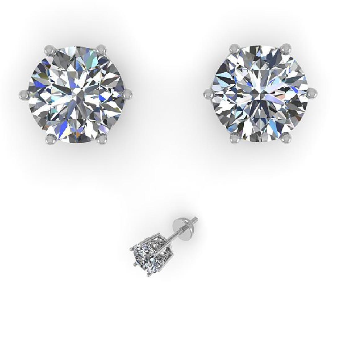 2.0 CTW Certified VS/SI Diamond Stud Art Deco Earrings - 2