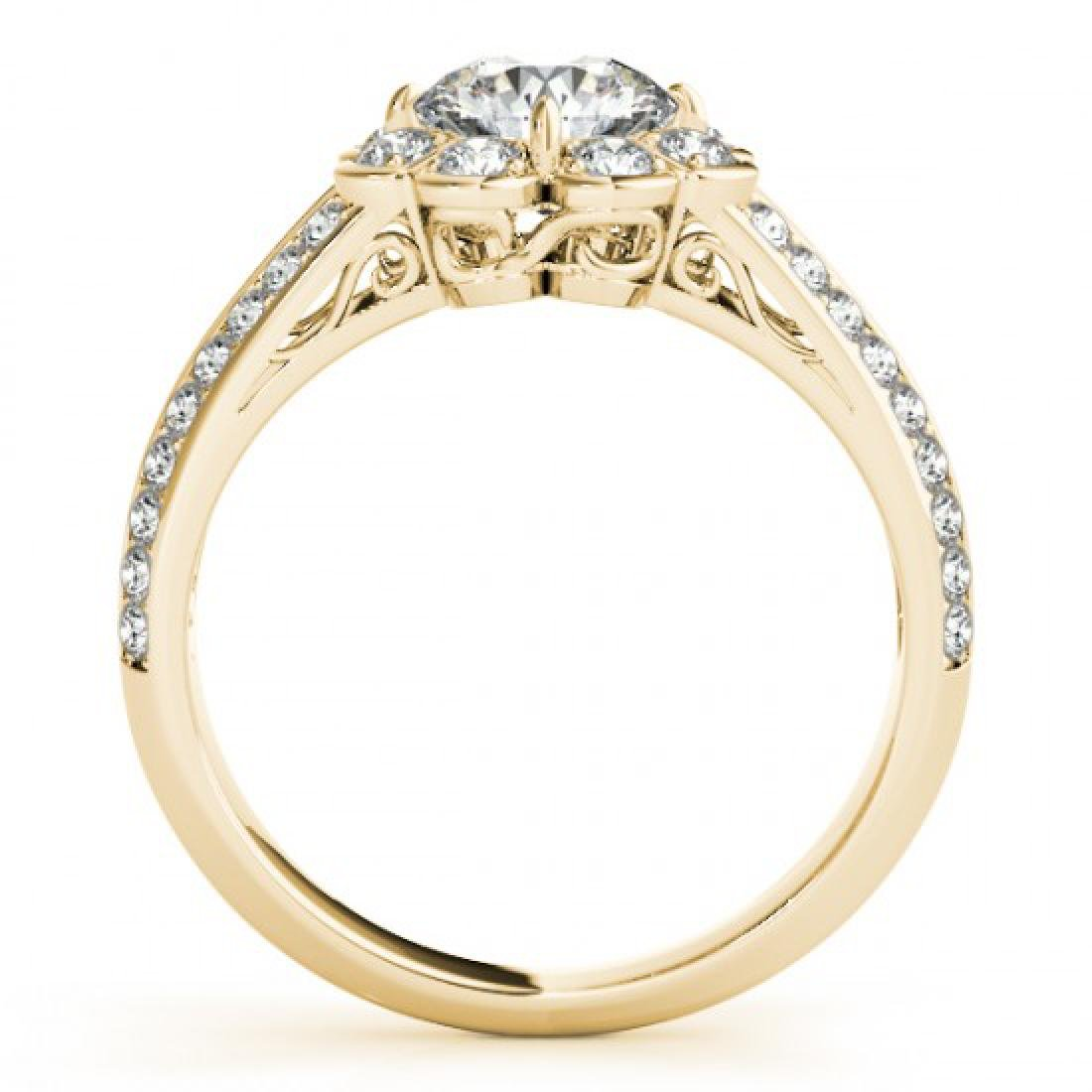 1.5 1.50 CTW Certified VS/SI Diamond Solitaire Halo - 2