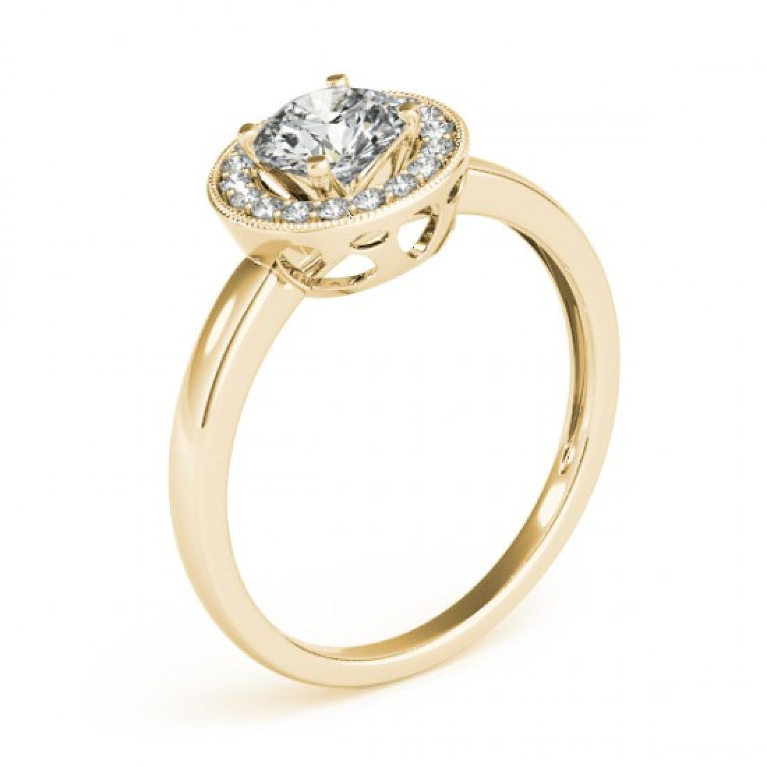 0.9 CTW Certified VS/SI Diamond Solitaire Halo Ring 14K - 3