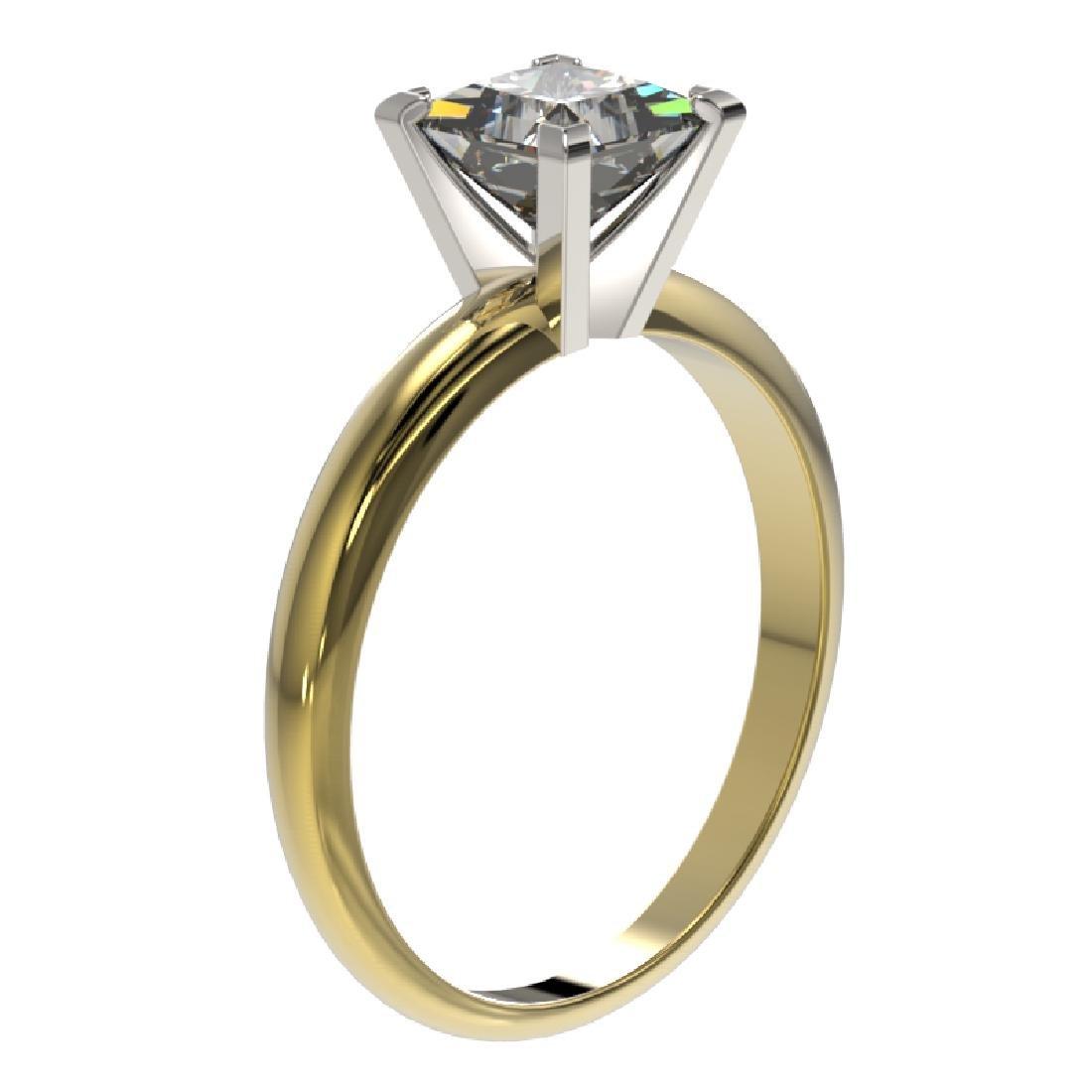 1.25 CTW Certified VS/SI Quality Princess Diamond - 3