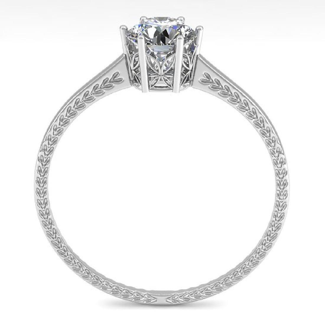 0.51 CTW VS/SI Diamond Art Deco Ring 14K White Gold - 3