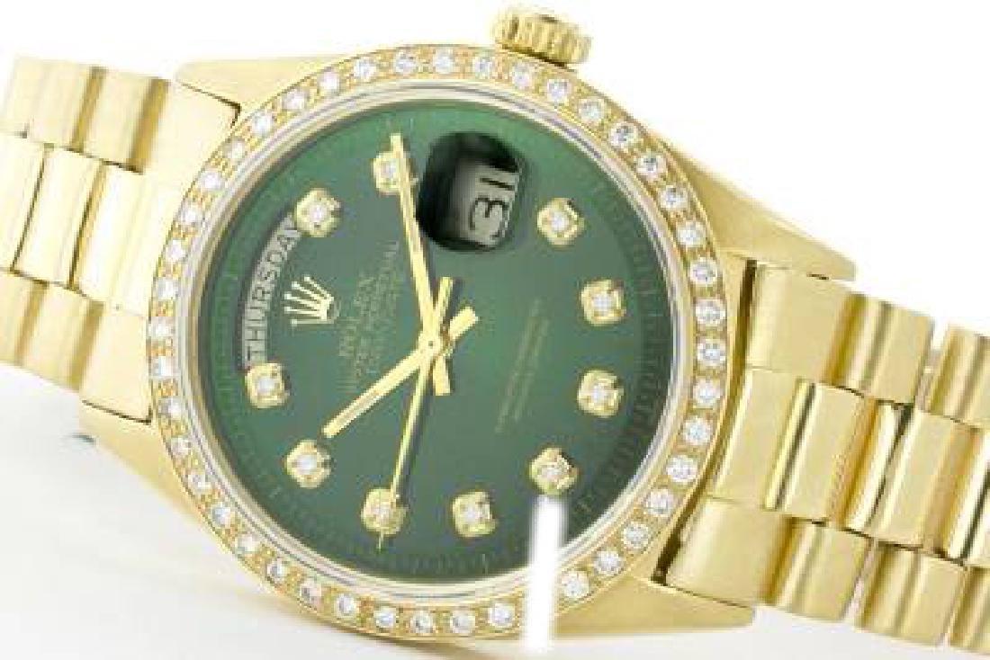 Rolex Men's 18K Yellow President, QuickSet, Diamond