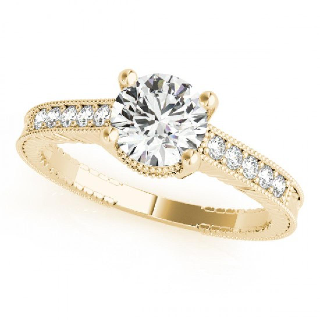 0.97 CTW Certified VS/SI Diamond Solitaire Antique Ring