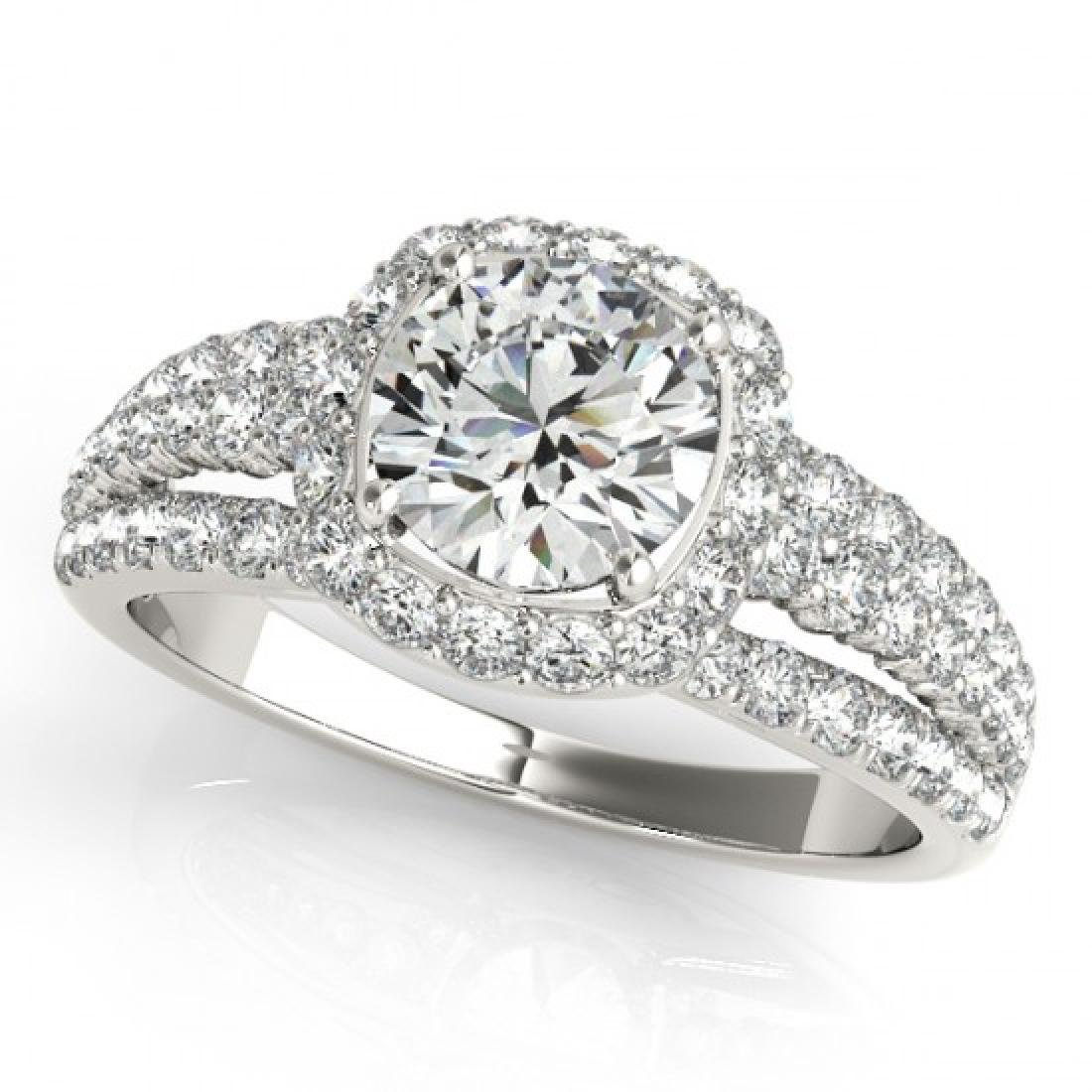 2.25 CTW Certified VS/SI Diamond Solitaire Halo Ring