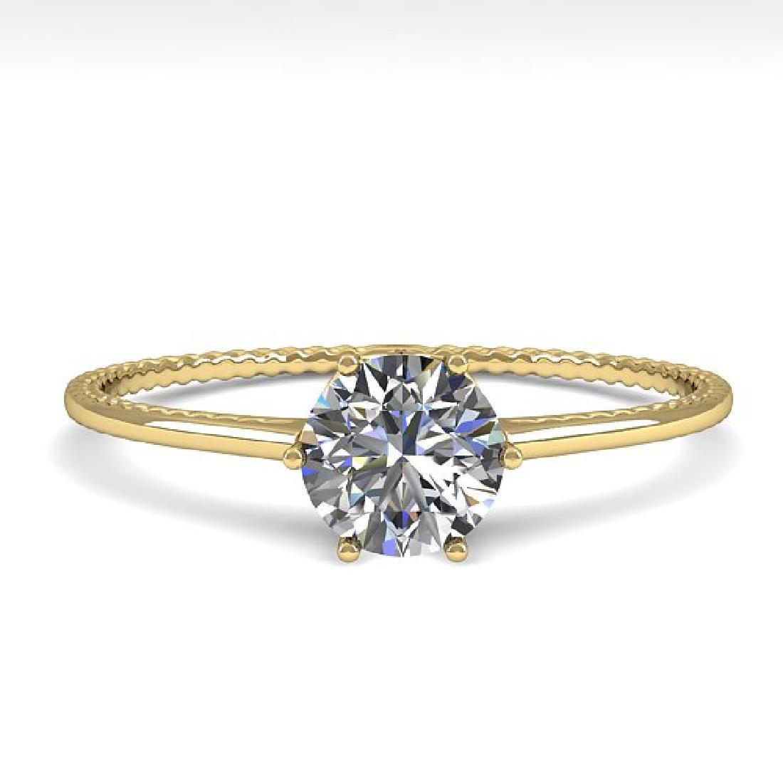 0.50 CTW Certified VS/SI Diamond Ring 14K Yellow Gold