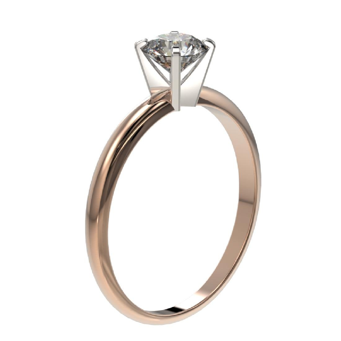 0.78 CTW Certified H-SI/I Quality Diamond Solitaire - 3